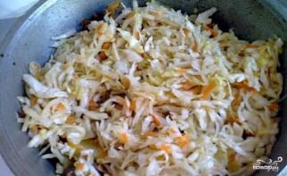 Тушеная капуста с картошкой мясом - фото шаг 5