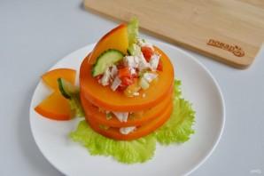 Слоеный салат из хурмы - фото шаг 11