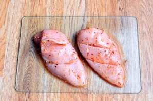 Куриная грудка с персиками - фото шаг 4