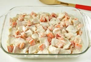 Тилапия в духовке с картошкой - фото шаг 6