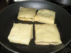 Блинчики с печенью и яйцом - фото шаг 3