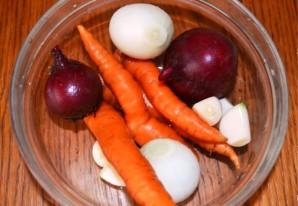 Запеченные овощи кусочками - фото шаг 1