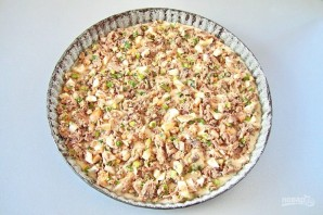 Рыбный пирог из жидкого теста - фото шаг 7