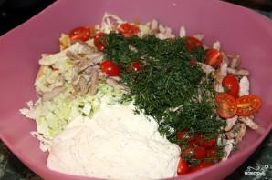 Салат с блинами и мясом - фото шаг 6