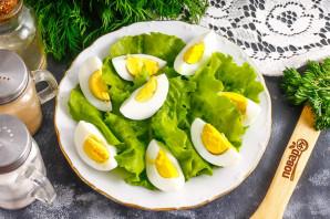 Салат из брюшек семги