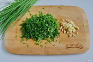 Салат из творога и брынзы - фото шаг 2