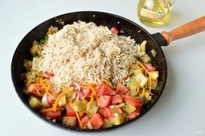 Рис с баклажанами и сладким перцем - фото шаг 5