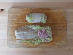Голубцы из пекинской капусты в мультиварке - фото шаг 5