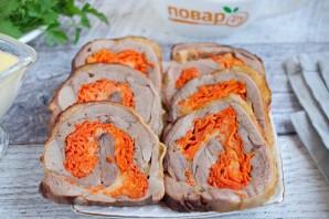 Рулет из индейки с морковью - фото шаг 7