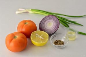 Салат с кориандром - фото шаг 1