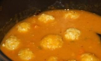 Тыквенный суп с фаршем   - фото шаг 6