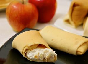 Блинчики с творогом и яблоками - фото шаг 5