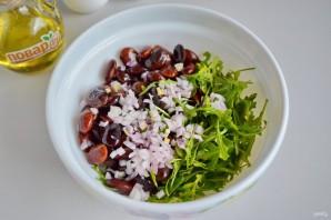 Салат из красной фасоли с творожным сыром - фото шаг 2