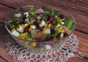 Салат с куриной грудкой и фасолью - фото шаг 5