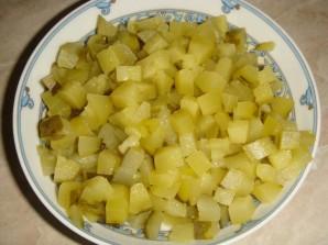 Салат с копченой утиной грудкой - фото шаг 3