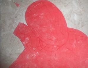 """Торт бисквитный """"Человек-паук"""" - фото шаг 5"""