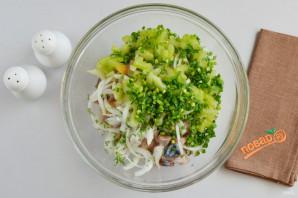 Салат из скумбрии - фото шаг 4