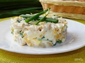 Салат с грибами, курицей и кукурузой - фото шаг 5