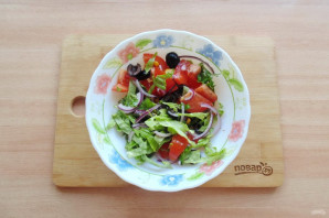 Критский салат - фото шаг 8