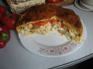 Пирог с грибами закрытый - фото шаг 5