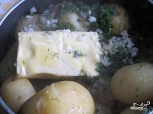 Вареная картошка с чесноком - фото шаг 3