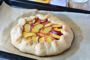 Постный пирог с персиками - фото шаг 10