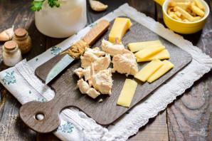 Салат с курицей и гренками - фото шаг 3