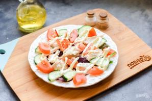 Салат с курицей и сухариками - фото шаг 6