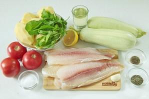 Рыба, запеченная с кабачками и картошкой в духовке - фото шаг 1