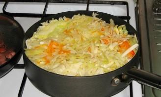 Тушеные овощи с сосиской - фото шаг 5