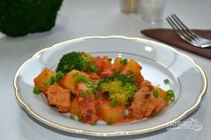 Картофель с мясом и брокколи - фото шаг 12