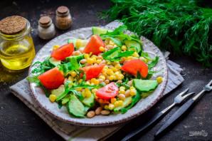 Салат с рукколой и фасолью - фото шаг 7
