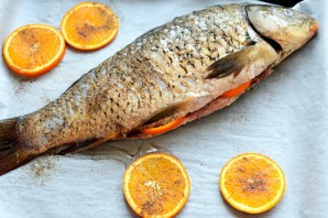 Нежный апельсиновый сазан в духовке - фото шаг 3