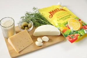 """Закуска """"Сырные шарики"""" с кунжутом и оливками - фото шаг 1"""