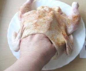 Курица, фаршированная грибами и сыром - фото шаг 5