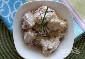 Картофельный салат с сыром - фото шаг 10