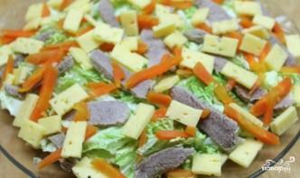 Салат из пекинской капусты с мясом - фото шаг 3