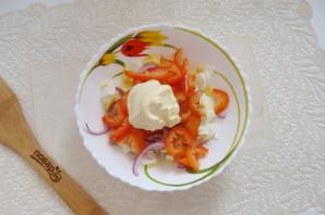 Салат с кальмарами и болгарским перцем - фото шаг 6