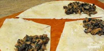Лаваш с грибами в духовке - фото шаг 4