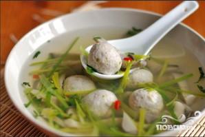 Китайский суп с фрикадельками из мяса и рыбы - фото шаг 4