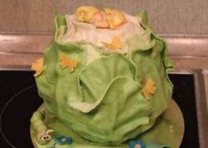 """Торт """"Капуста с младенцем"""" - фото шаг 6"""
