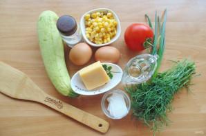 Рулет из омлета с овощами