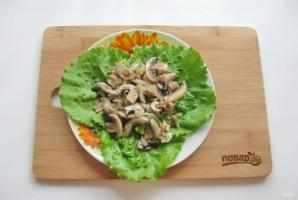 Теплый салат из шампиньонов с топинамбуром - фото шаг 6