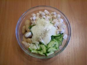 Мясной салат с фасолью - фото шаг 6