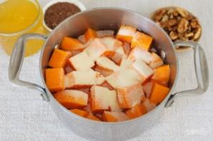 Каша из тыквы с семенами льна и орехами - фото шаг 3