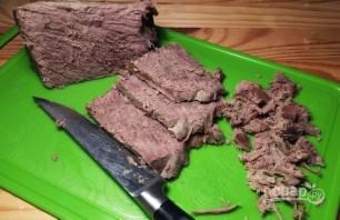 Салат с гранатом и говядиной - фото шаг 5