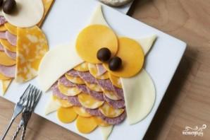 Сырная и мясная нарезка - фото шаг 5