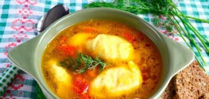 Постный суп с клецками - фото шаг 7
