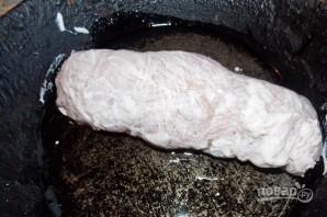Куриный рулет с сыром в духовке - фото шаг 5