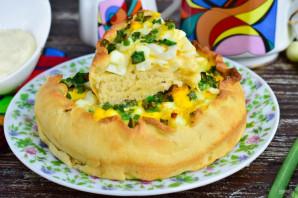 Дрожжевой пирог с зеленью - фото шаг 11